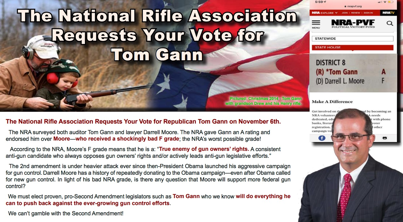 Tom Gann & Darrell Moore NRA Endorsement